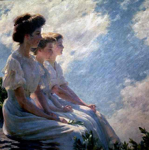 Paintings Reproductions Curran, Charles Courtney On the Heights, 1909