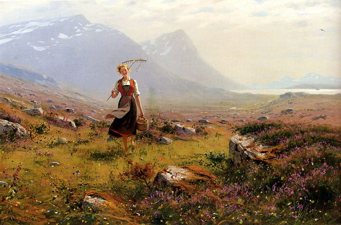 Hans Fredrik Dahl Reproductions-Returning From The Fields
