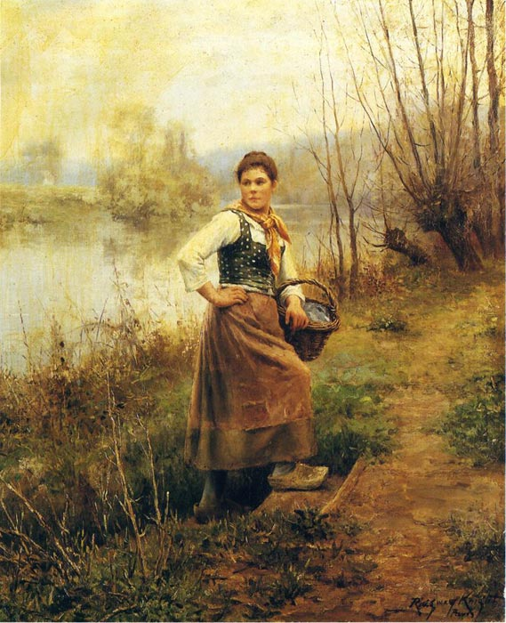 Daniel Ridgway Knight Reproductions-Country Girl