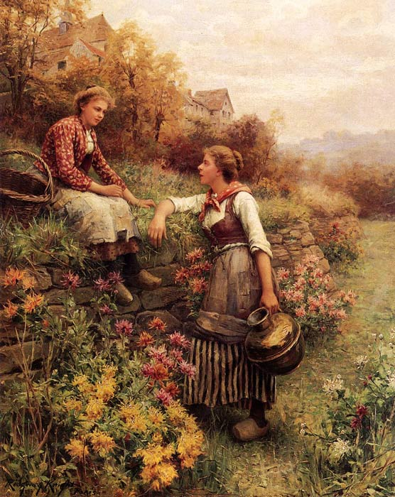 Daniel Ridgway Knight Reproductions-Marie and Diane