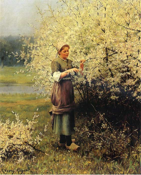 Daniel Ridgway Knight Reproductions-Spring Blossoms