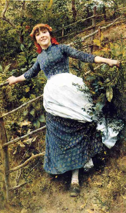 Daniel Ridgway Knight Reproductions-A Summer's Folly