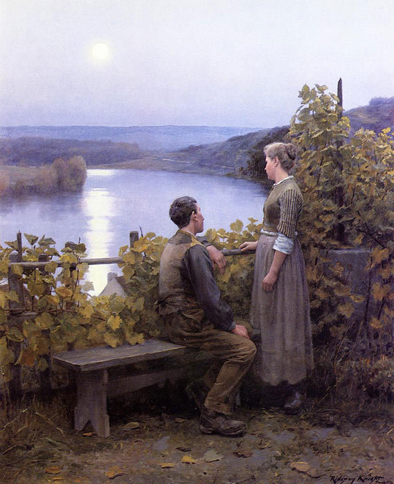Paintings Reproductions Knight, Daniel Ridgway Summer Evening, 1897