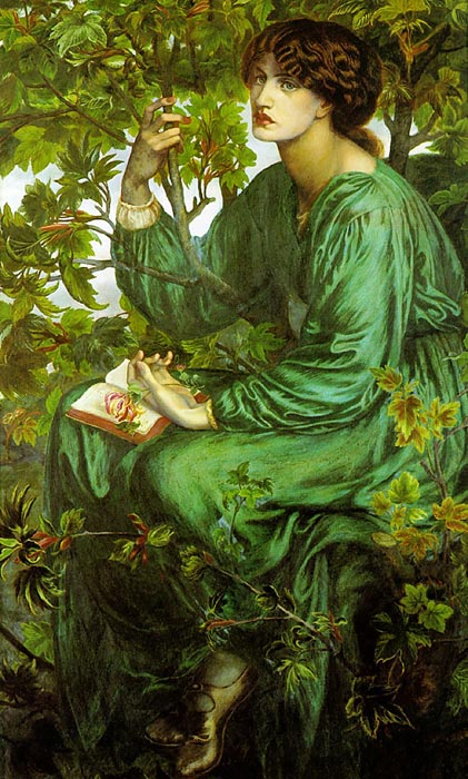 Dante Gabriel Rossetti  Reproductions-The Day Dream, 1880