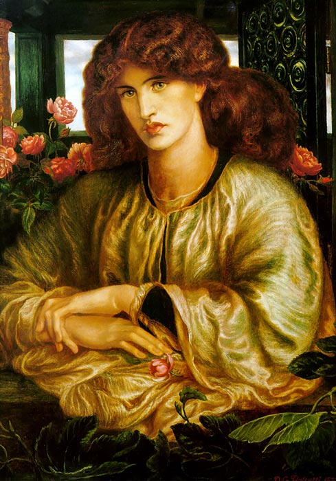 Dante Gabriel Rossetti  Reproductions-La Donna della Finestra [The Lady of the Window],  1879
