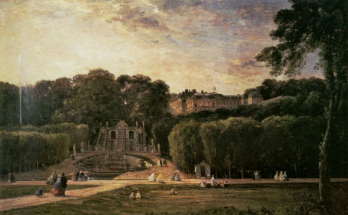 Paintings Reproductions Daubigny, Charles-Francois The Park At St. Cloud, 1865