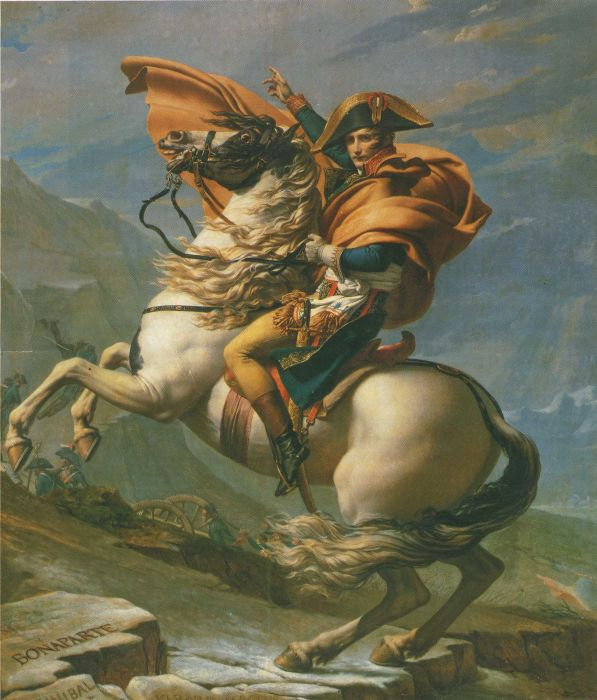 Jacques -Louis David Reproductions-Napoleon Crossing the Alps, 1801