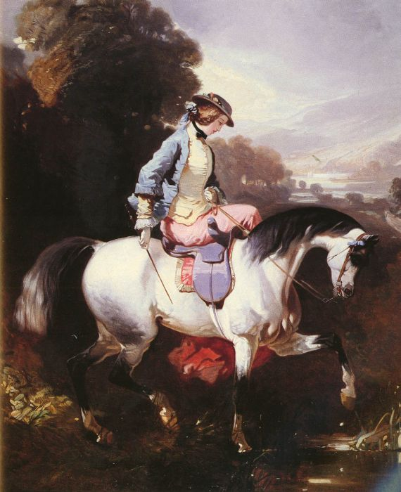 Alfred Dedreux Reproductions-An Elegant Equestrienne