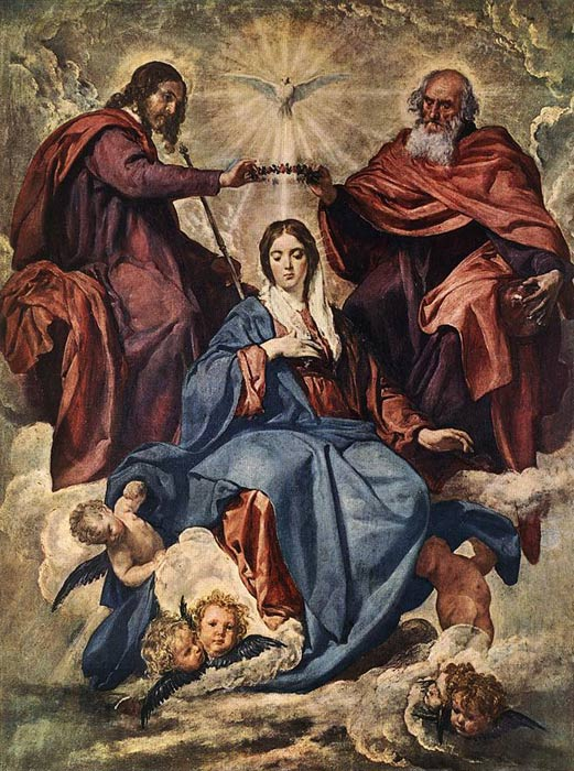 Paintings Reproductions Velazquez, Diego Rodriguez de Silva The Coronation of the Virgin, 1641-1644