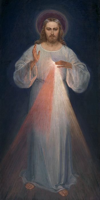 Custom PaintingsReproductions-Divine Mercy