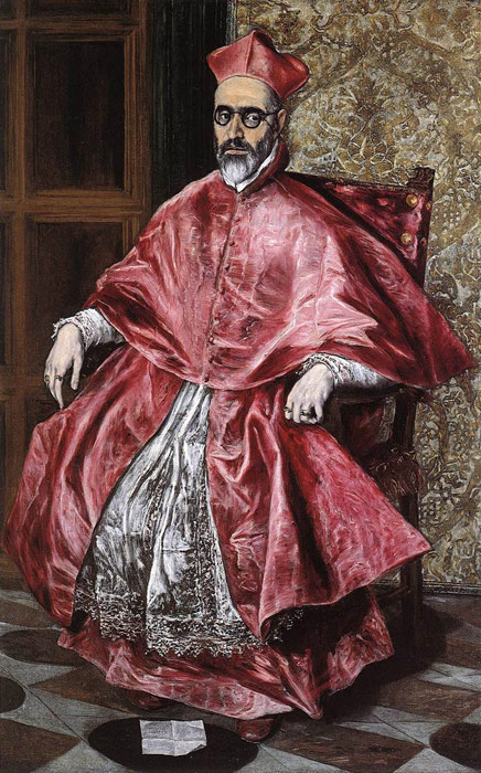 Paintings Reproductions El Greco, -Domenikos Theotokopolos Portrait of a Cardinal, c.1600