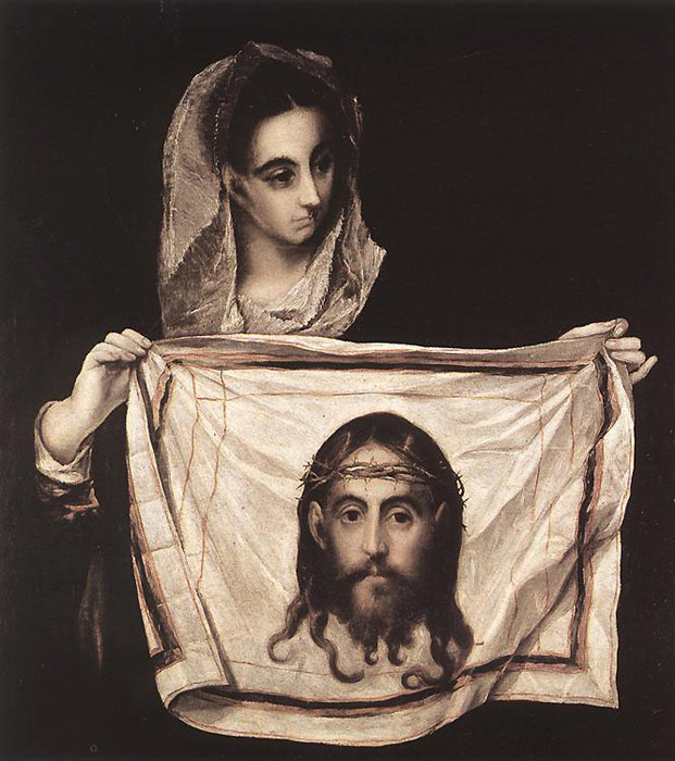 El Greco Reproductions-St Veronica with the Sudary, c.1579
