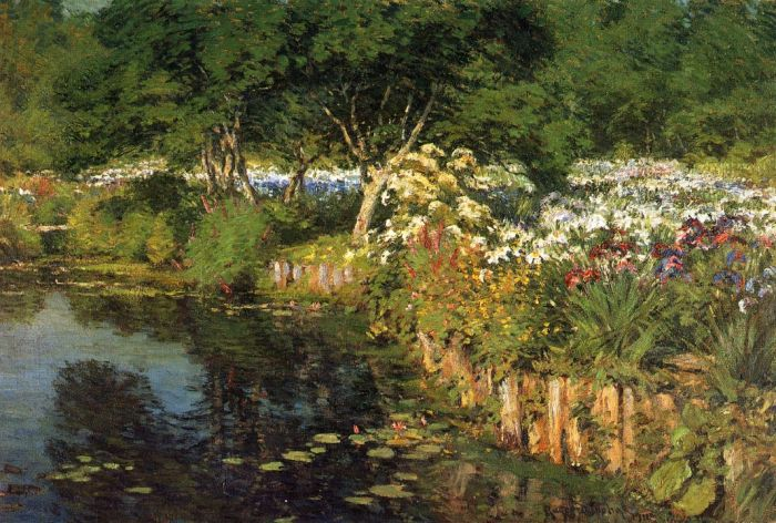 Paintings Reproductions Donoho, Gaines Ruger Woodhouse Water Garden, 1911