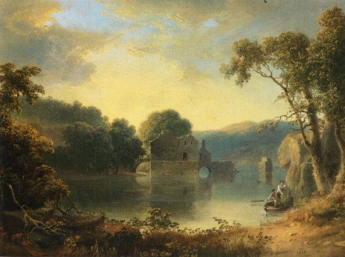 Paintings Reproductions Doughty, Thomas Ruins in a Landscape, 1828