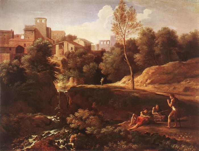 Paintings Reproductions Dughet, Gaspard Imaginary Landscape, 1650