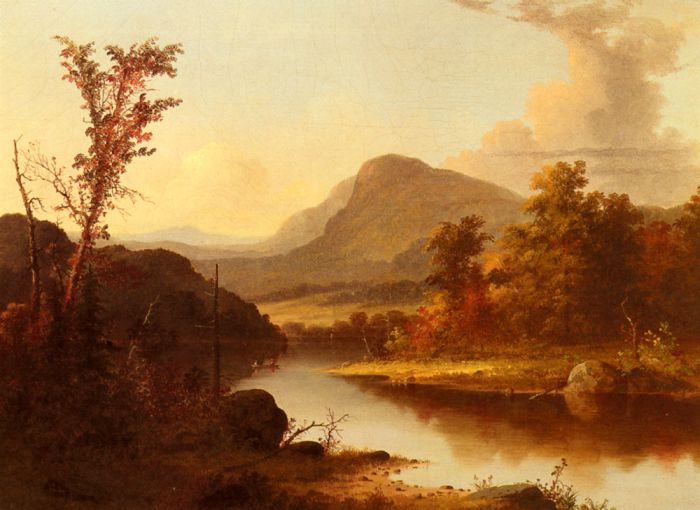 George Henry Durrie Reproductions-Autumn Landscape
