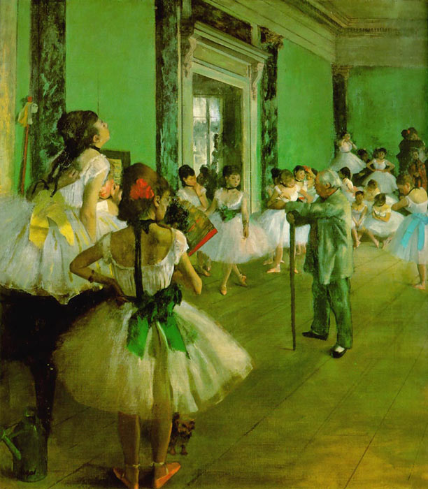 Paintings Reproductions Degas, Edgar Dance Class, 1874