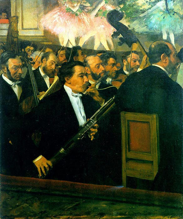 Edgar Degas Reproductions-The Orchestra of the Opera, c.1870