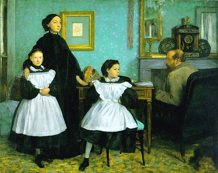 Edgar Degas Reproductions-The Bellelli Family, 1859-1860