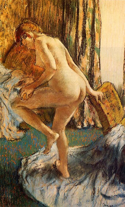 Edgar Degas Reproductions-After the Bath, c.1883