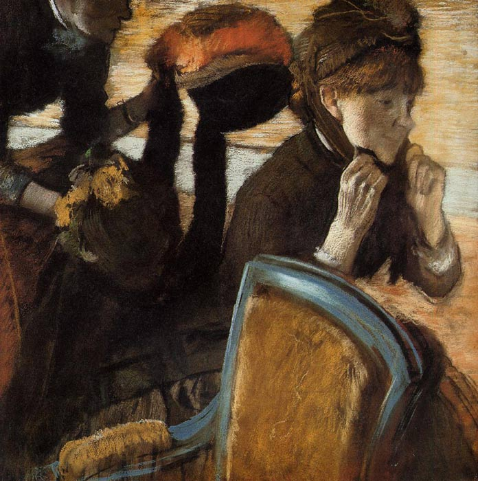 Edgar Degas Reproductions-At the Milliner's, c.1882