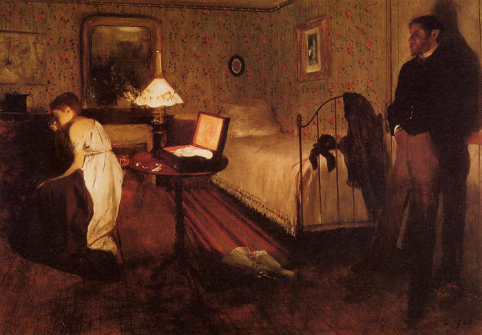 Edgar Degas Reproductions-Interior,  c.1868