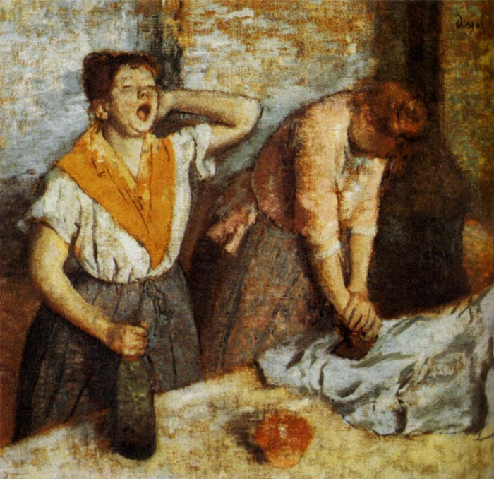 Edgar Degas Reproductions-Women Ironing, 1884-1886