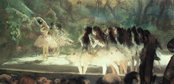 Edgar Degas Reproductions-Ballet at the Paris Opera, 1877-1878