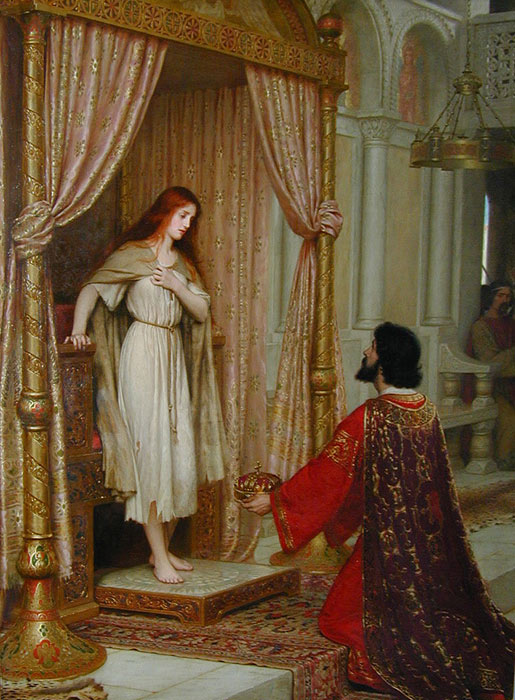 Edmund Blair Leighton  Reproductions-The King and the Beggar -Maid