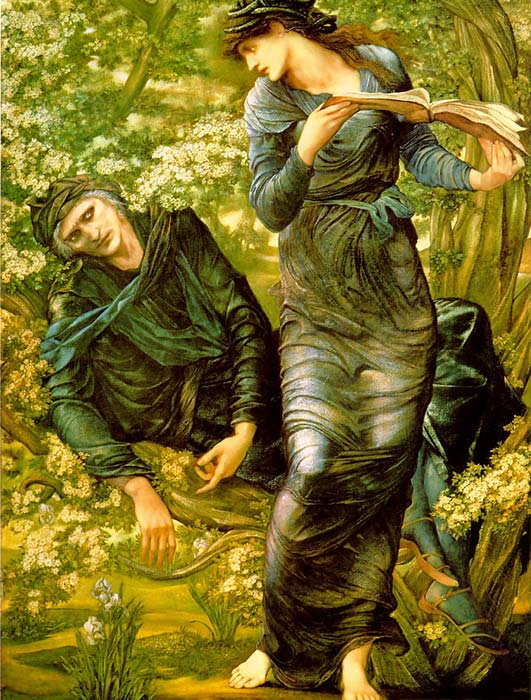 Paintings Reproductions Burne-Jones,Sir Edward Coley The Beguiling of Merlin, 1873-1874