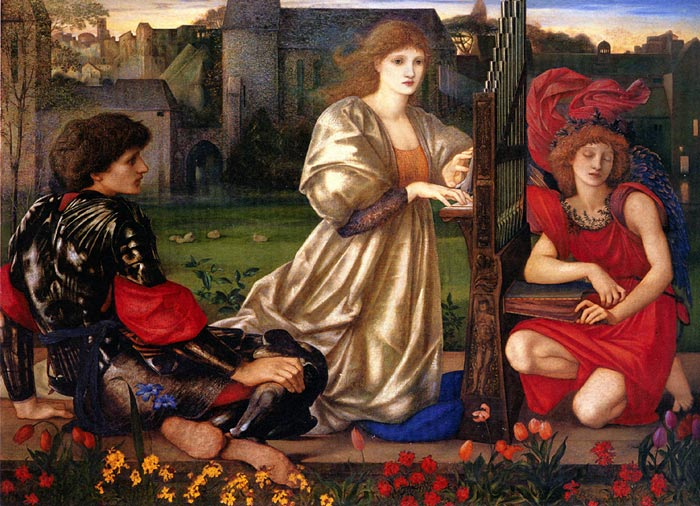 Paintings Reproductions Burne-Jones,Sir Edward Coley Le Chant d'Amour [Song of Love], 1868-1877