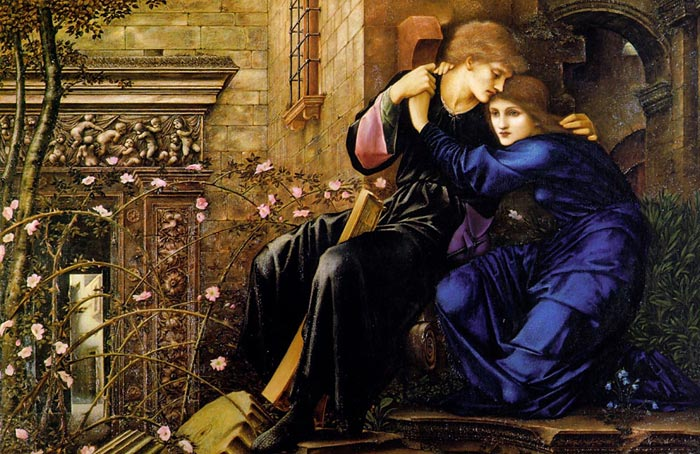 Paintings Reproductions Burne-Jones,Sir Edward Coley Love Among the Ruins, 1894