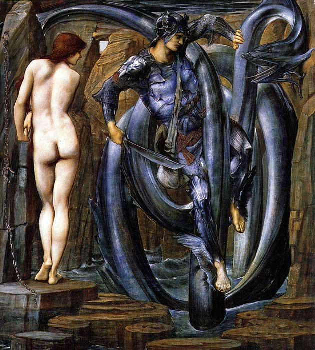 Paintings Reproductions Burne-Jones,Sir Edward Coley The Perseus Series: The Doom Fulfilled, 1884-1885