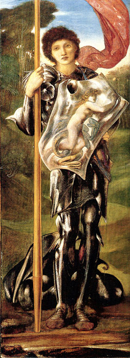 Paintings Reproductions Burne-Jones,Sir Edward Coley Saint George, 1873-1877