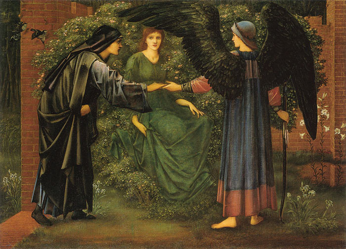Paintings Reproductions Burne-Jones,Sir Edward Coley The Heart of the Rose, 1889