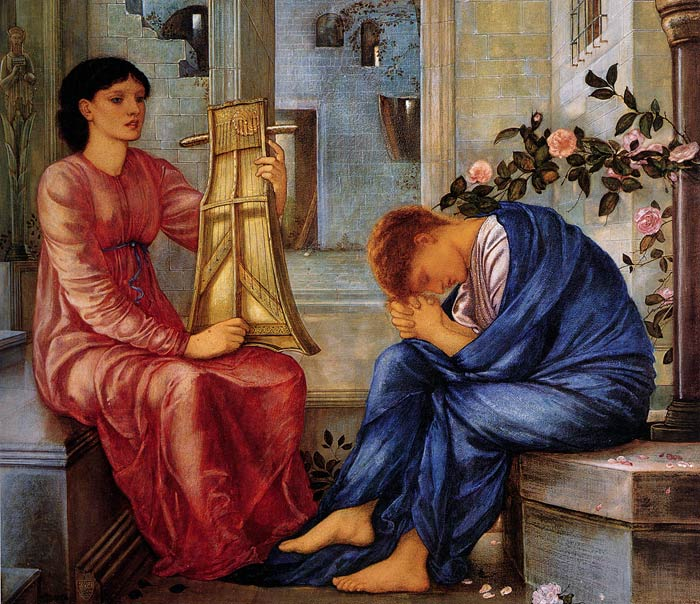 Sir Edward Coley Burne-Jones Reproductions-The Lament, 1865-1866