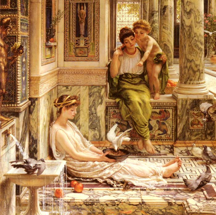 Edward John Poynter Reproductions-Corner Of The Villa
