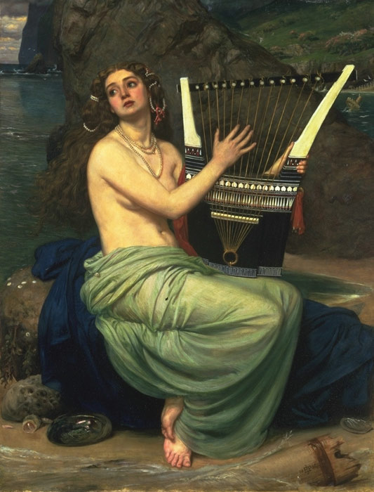 Edward John Poynter Reproductions-The Siren