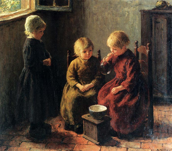 Paintings Reproductions Potthast, Edward Blowing Bubbles