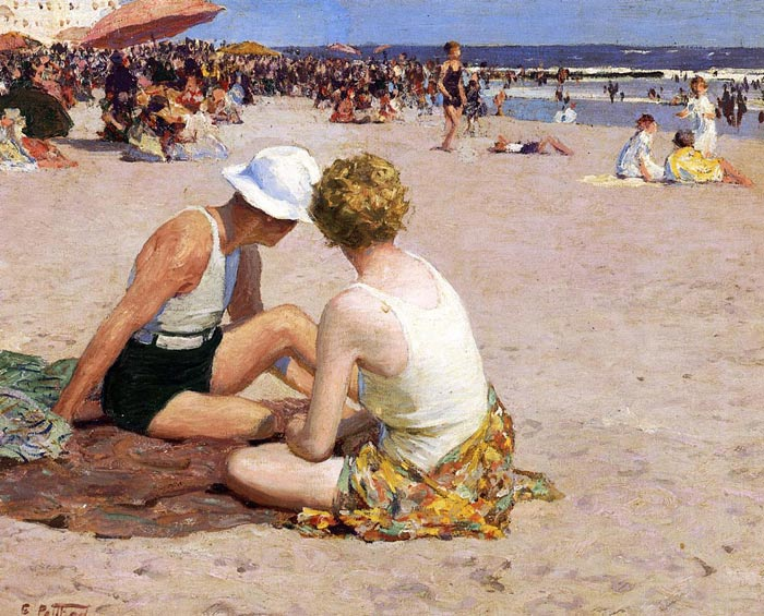 Edward Potthast  Reproductions-A Summer Vacation
