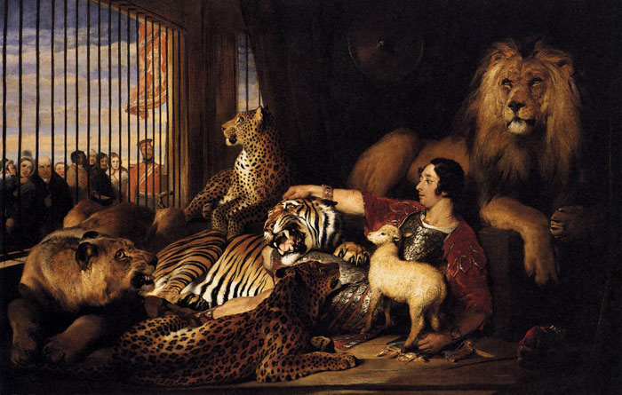 Sir Edwin Henry Landseer Reproductions-Isaac van Amburgh and his Animals, 1839
