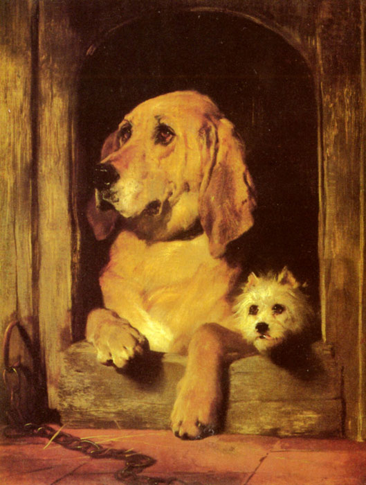 Sir Edwin Henry Landseer Reproductions-Dignity and Impudence,  1839