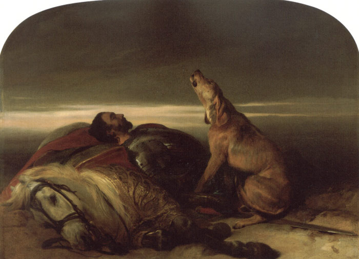 Sir Edwin Henry Landseer Reproductions-The Faithful Hound, c.1830