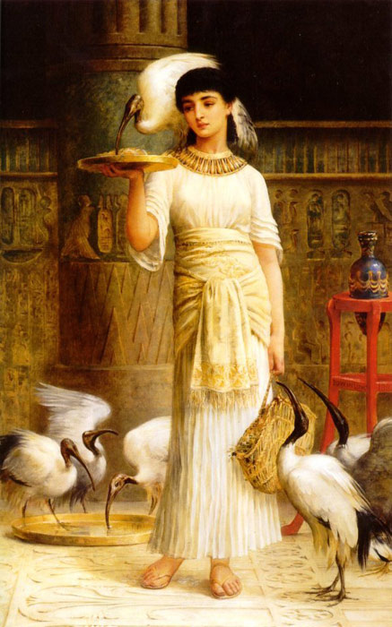 Paintings Reproductions Long, Edwin Longsden Ale the Attendant of the Sacred Ibis in the Temple of Isis