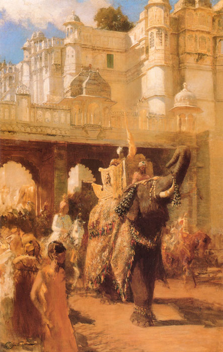 Edwin Lord Weeks Reproductions-A Royal Procession