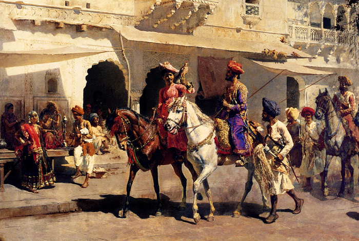 Edwin Lord Weeks Reproductions-Leaving For The Hunt At Gwalior, c.1887