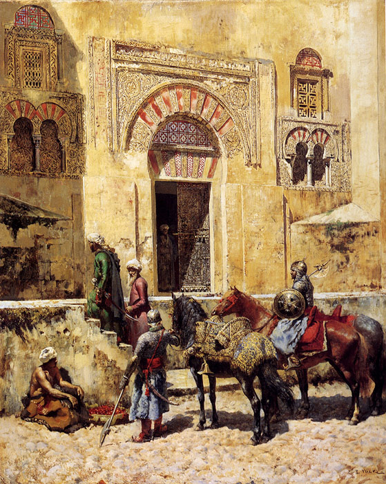 Edwin Lord Weeks Reproductions-Entering The Mosque,1885