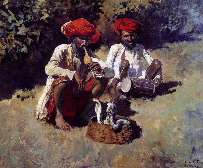 Edwin Lord Weeks Reproductions-The Snake Charmers, Bombay
