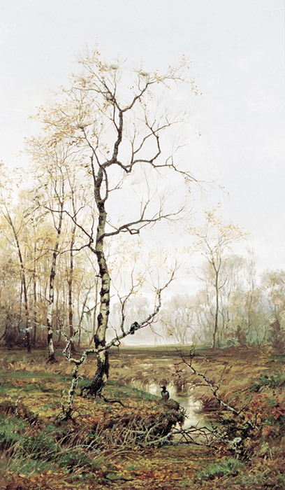 Efim Efimovich Volkov Reproductions-In the Forest, Autumn. 1877
