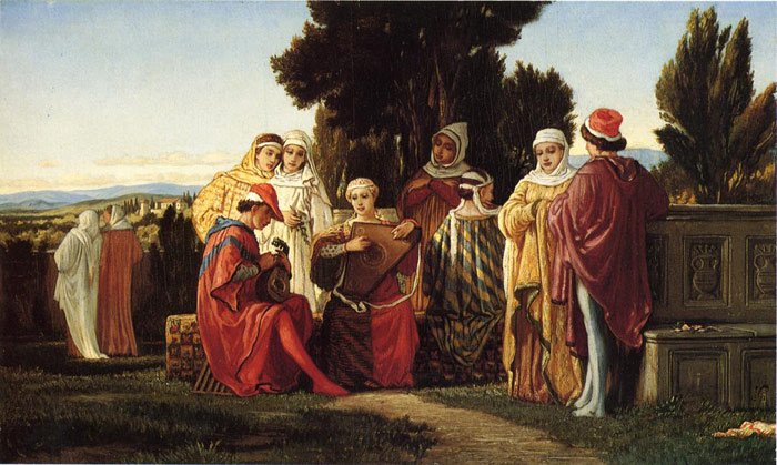 Elihu Vedder Reproductions-The Music Party, 1871